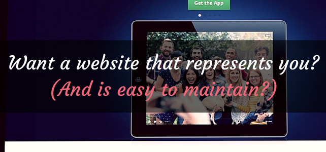 Need a website that represents you?