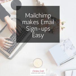 Mailchimp for Easy Sign-ups